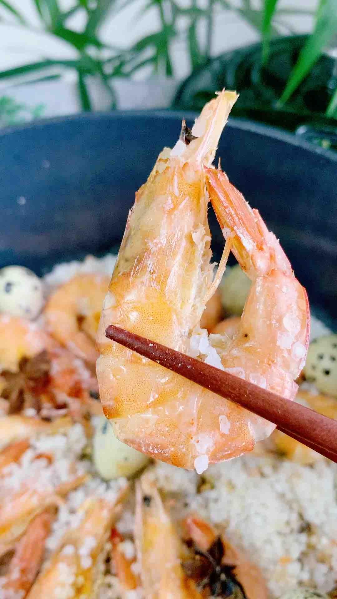 只用一包盐,做一锅盐焗虾的做法