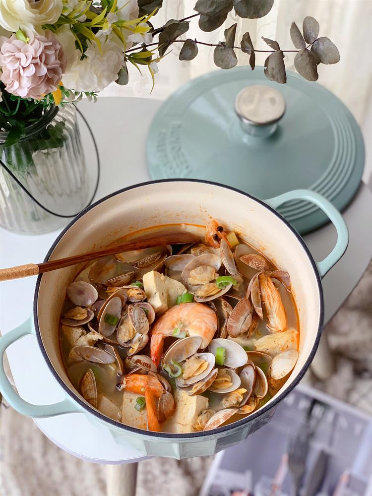 鲜掉眉毛的花蛤豆腐汤的做法【步骤图】