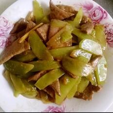 猪肝炒莴苣