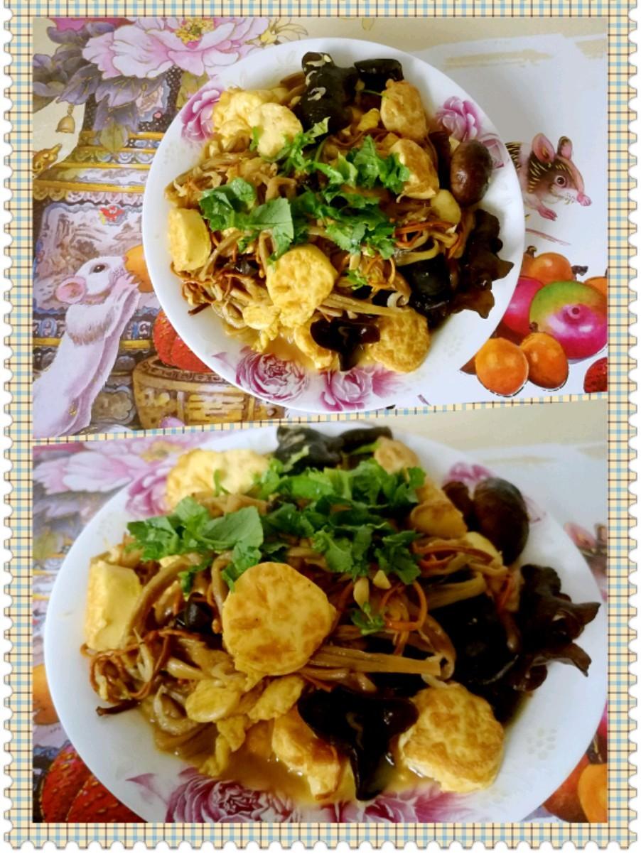 菌菇玉子豆腐