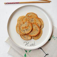 褐麦芝麻鸡蛋饼
