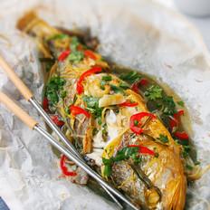 纸包黄花鱼