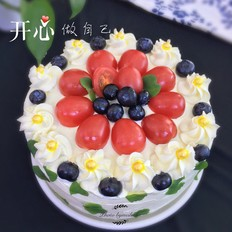 7寸水果奶油蛋糕的做法