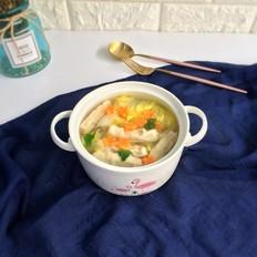 虾饺蔬菜汤