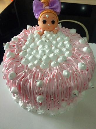 迷糊娃娃生日蛋糕的做法