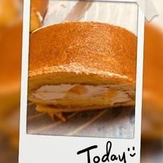 芒果戚风蛋糕卷