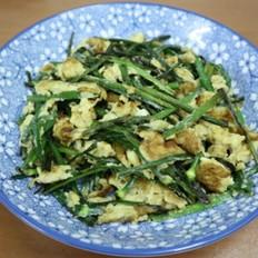 韭菜花炒蛋