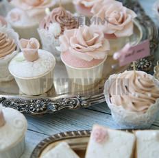 翻糖玫瑰杯子蛋糕