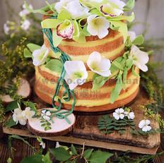 森系鲜花裸蛋糕
