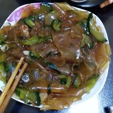黄瓜炒粉皮