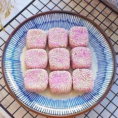 奶香紫薯方饼的做法