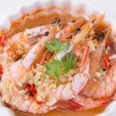 香茅青柠檬蒸虾