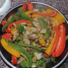 彩椒炒花甲肉