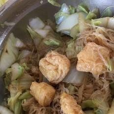 白菜炒粉丝泡豆腐