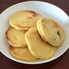 玉米面红豆饼