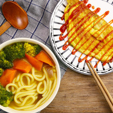 超快蔬菜咖喱乌冬面   太阳猫早餐