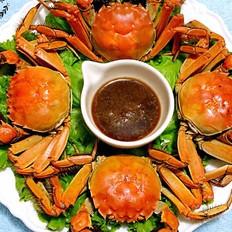 清蒸河蟹的做法
