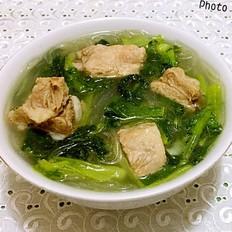 小白菜粉条排骨汤