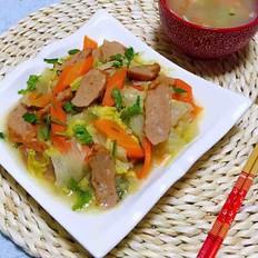 肉参炒白菜