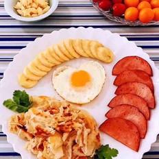 手抓饼开心早餐