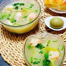 虾滑冬瓜金针菇汤