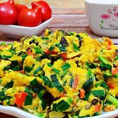 韭菜香菇胡萝卜炒鸡蛋