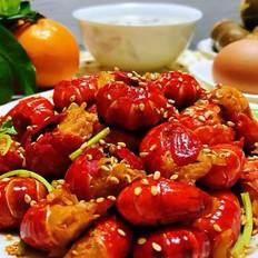 蒜蓉辣椒酱炒龙虾尾