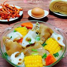 猪蹄莲藕玉米胡萝卜汤