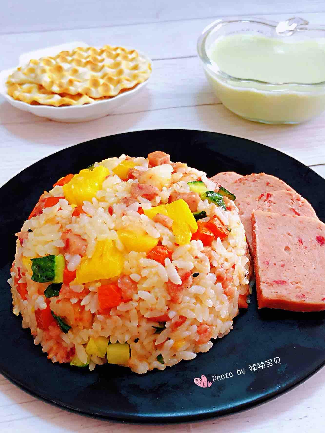 菠萝虾仁炒饭#大勇蟹田大米#