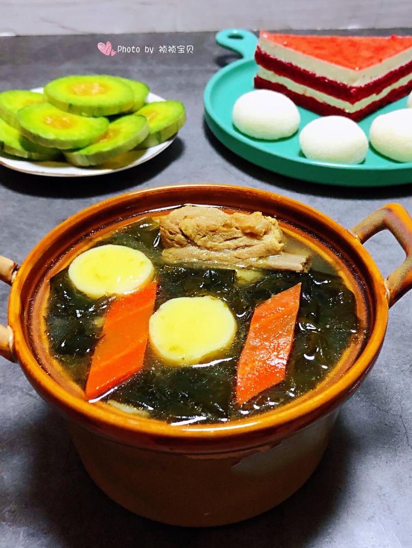 排骨海带豆腐汤