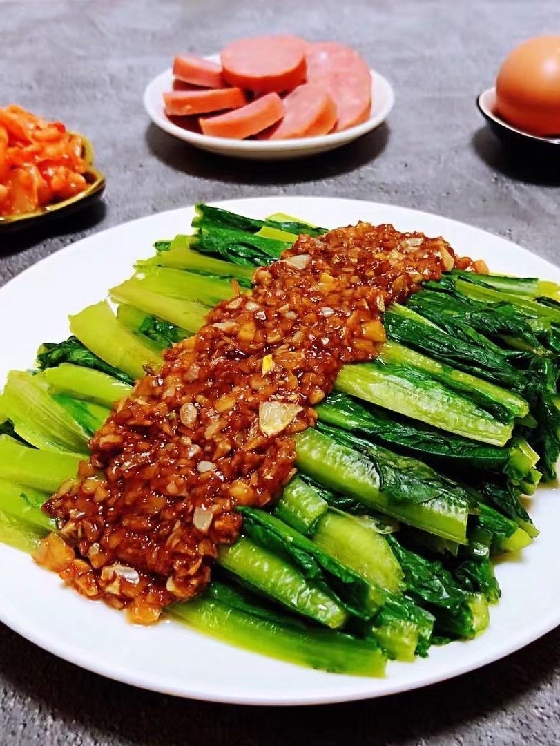 蚝油蒜蓉油麦菜