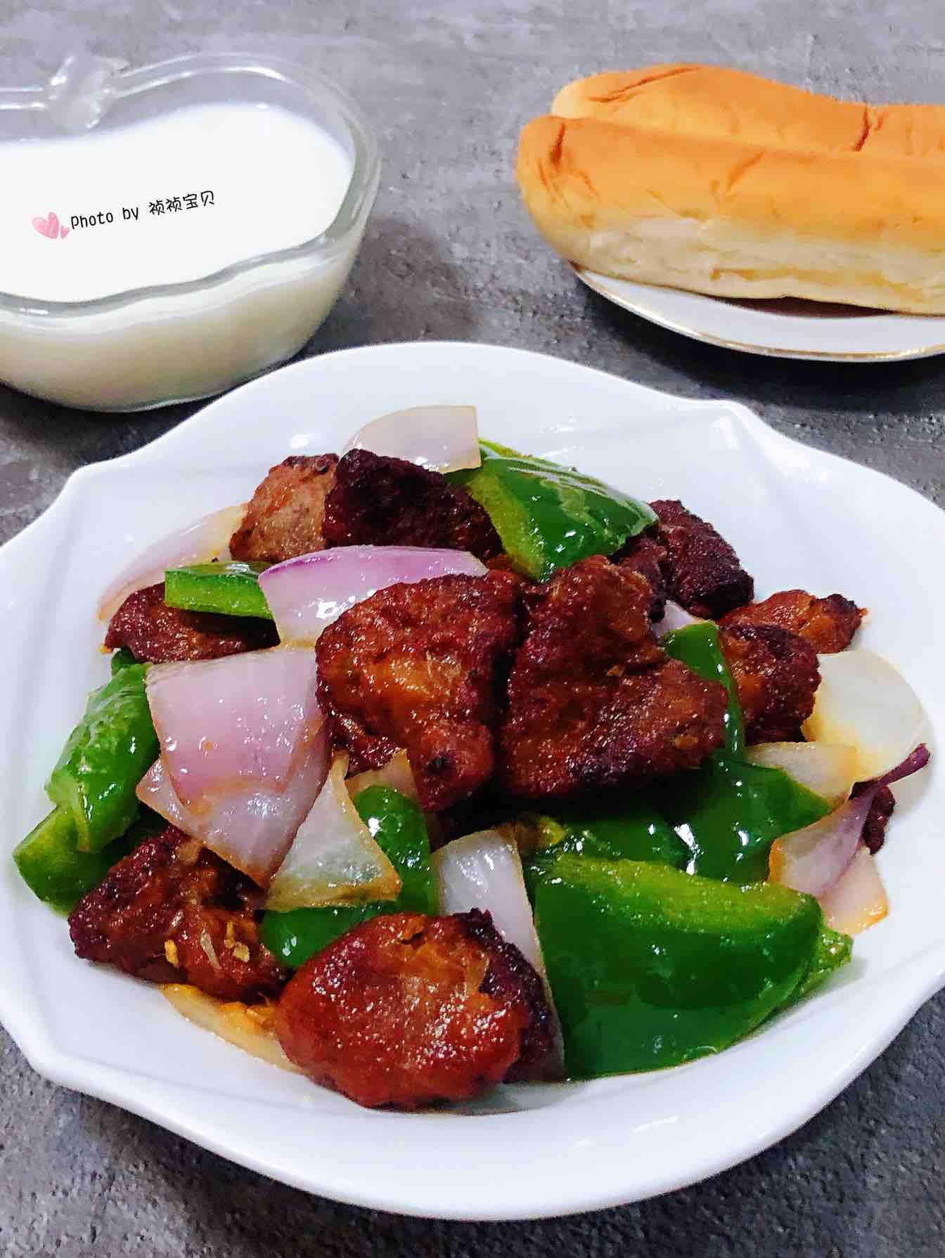 青椒洋葱炒猪肝