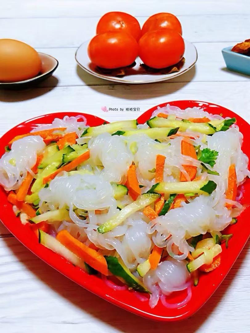 黄瓜胡萝卜凉拌魔芋