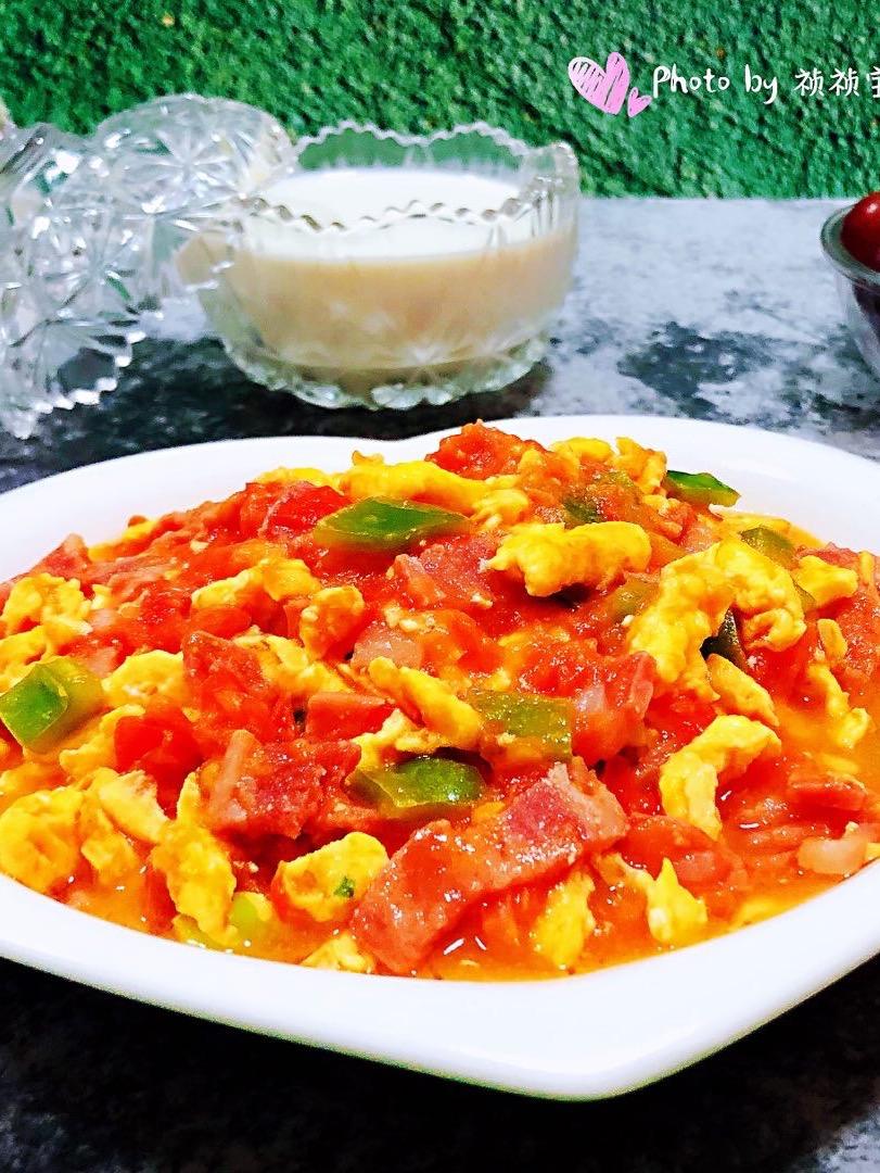 培根青椒西红柿炒蛋