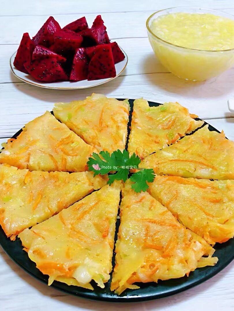 黄金土豆胡萝卜饼的做法