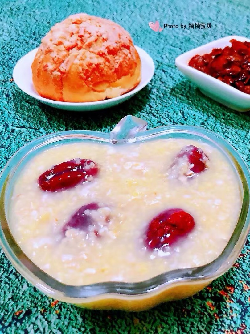 红枣小米燕麦粥的做法