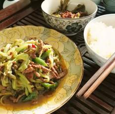 莴笋酸菜牛肉丝