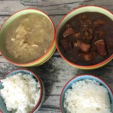 酸菜坛肉米饭