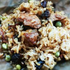 荷叶糯米蒸肉