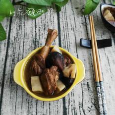 鸭腿炖香菇藕丁