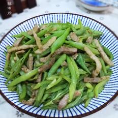 家常下饭菜-豆角炒肉丝