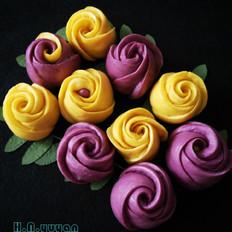 面食也可以如此华丽--玫瑰花馒头