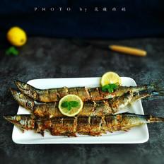 柠檬香煎秋刀鱼