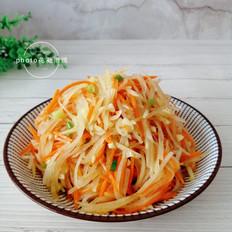 炝拌胡萝卜土豆丝