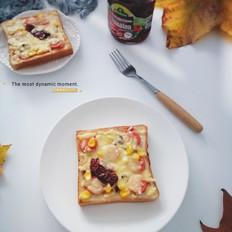 吐司版披萨