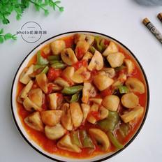 番茄口蘑炒辣椒