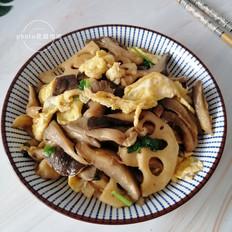 蘑菇藕片炒鸡蛋