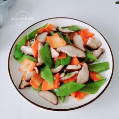香菇炒荷兰豆