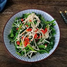 菠菜拌金针菇