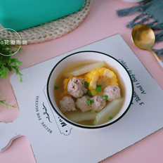 冬瓜玉米丸子汤